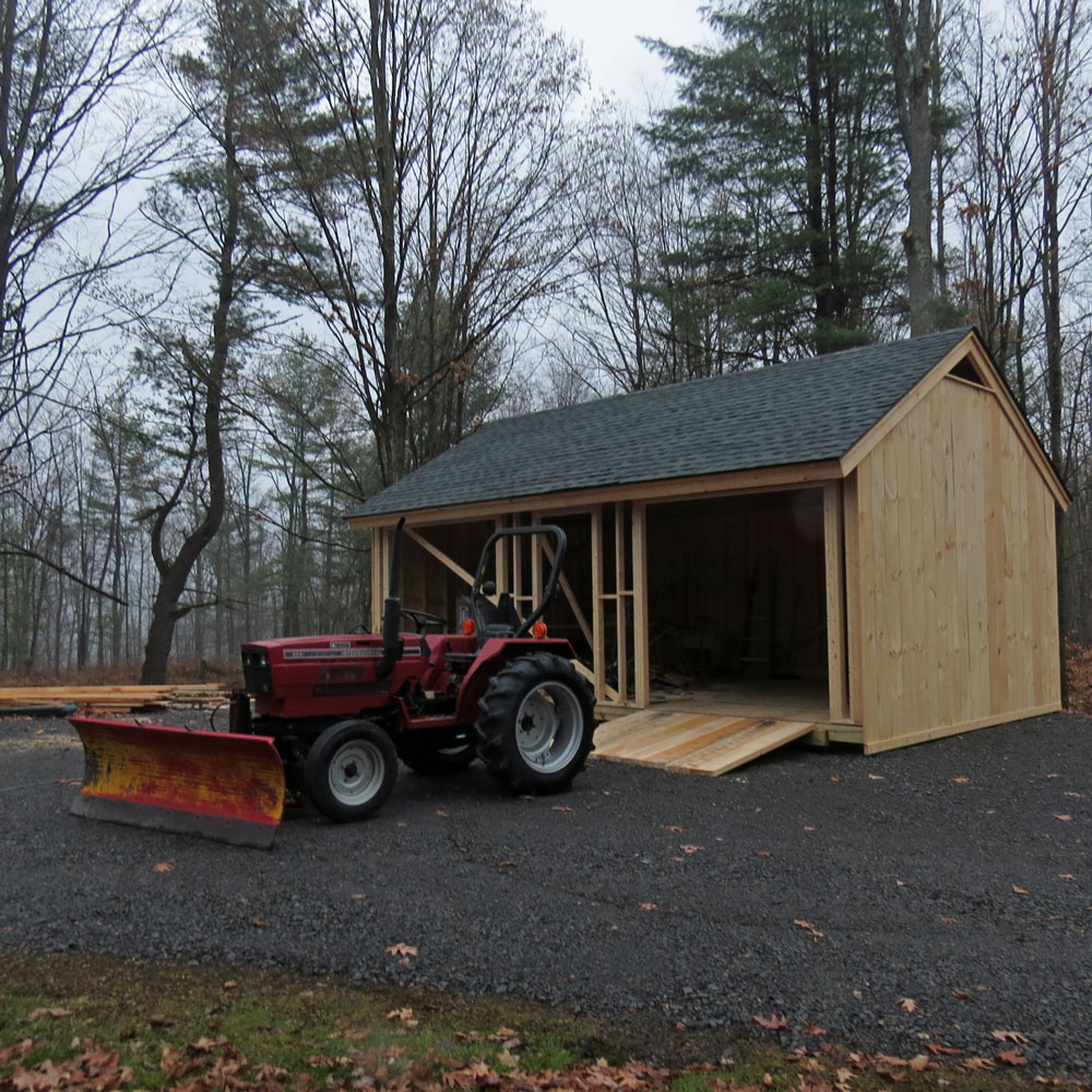 Custom classic construction inc for How to build a tractor shed